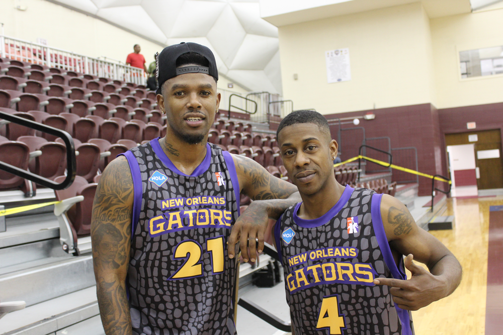 NEW ORLEANS GATORS purple gray yellow black basketball uniforms jersey shirts, shorts