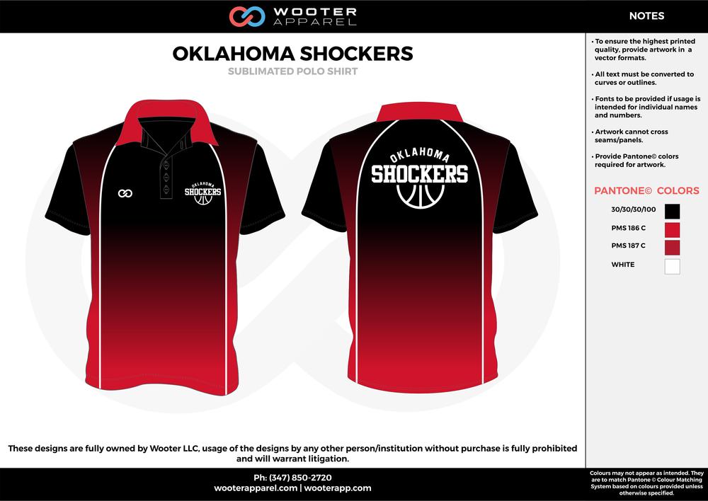 Oklahoma Shockers Basketball - Sublimated Coaches Polo Shirt -  2017.png