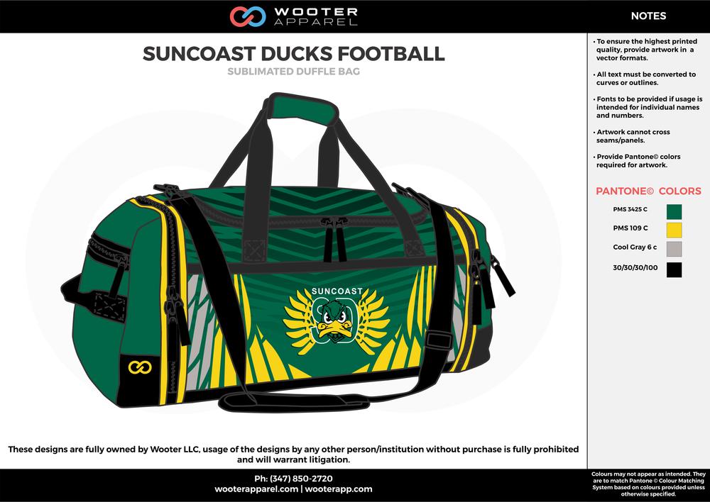 Suncoast Ducks Football - Sublimated Duffle Bag - 2017.png