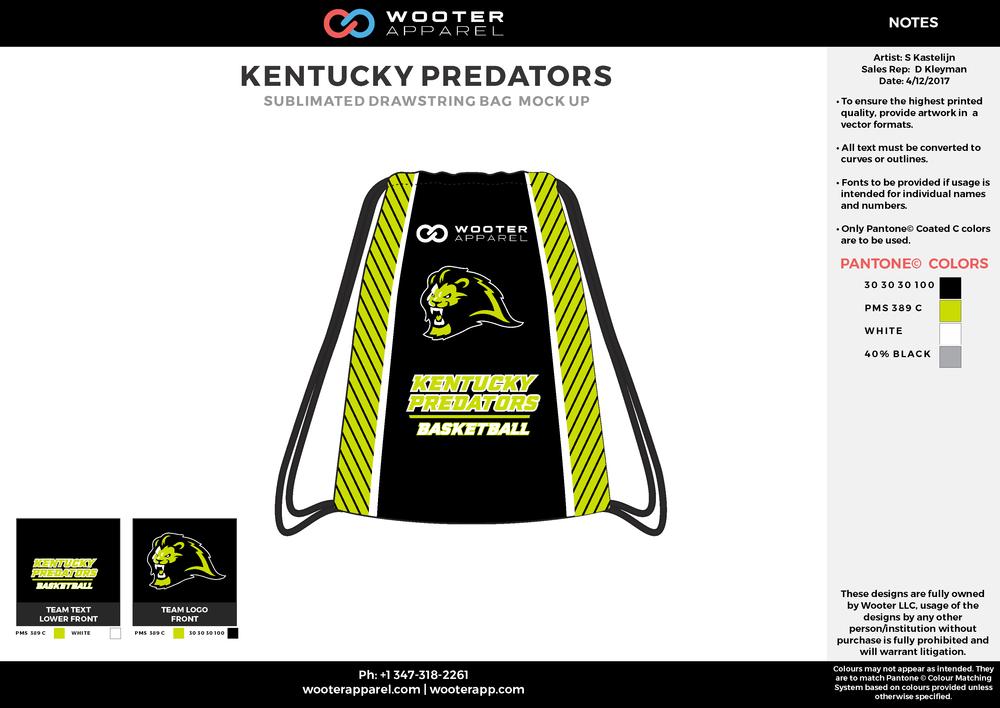 Kentucky Predators - Basketball - Drawstring Bag - 2017 - v1.png