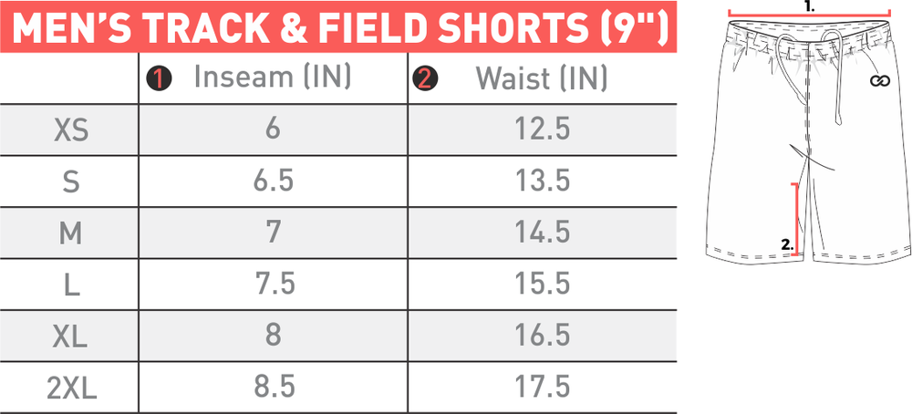 Track & Field Shorts Men's '9' - Size Chart - MAB-0037PJ.png