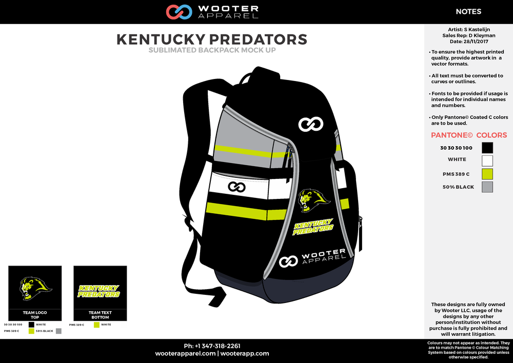 Kentucky Predators - Basketball - Sublimated Backpack - 2017 - v2.png