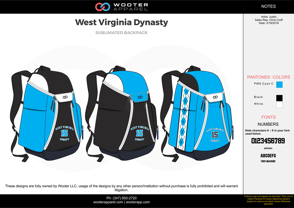 West Virginia Dynasty Basketball Backpack.png