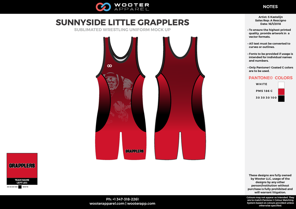 Little Grapplers - Wrestling - Singlet - 2018 - v1.png