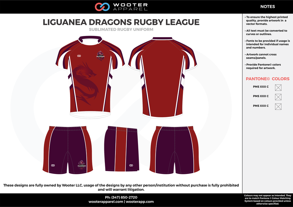 Liguanea Dragons - Sublimated Rugby Uniform - 2017 3.png