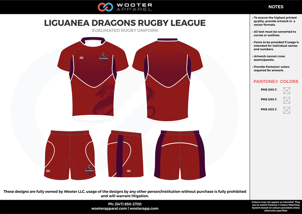 Liguanea Dragons - Sublimated Rugby Uniform - 2017 2.png