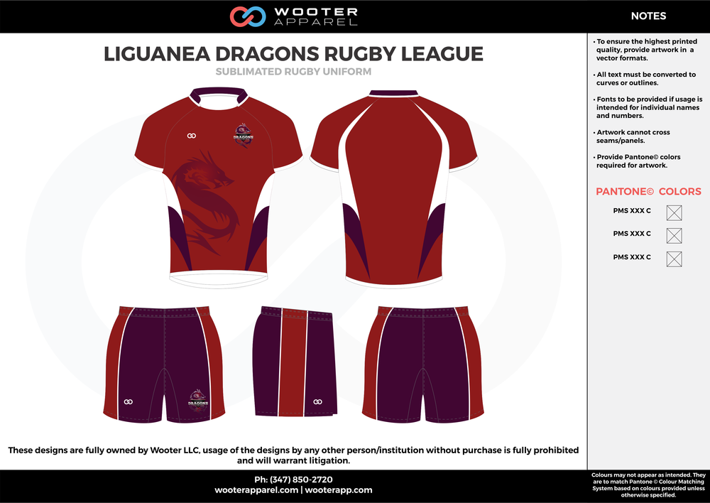 Liguanea Dragons - Sublimated Rugby Uniform - 2017 1.png
