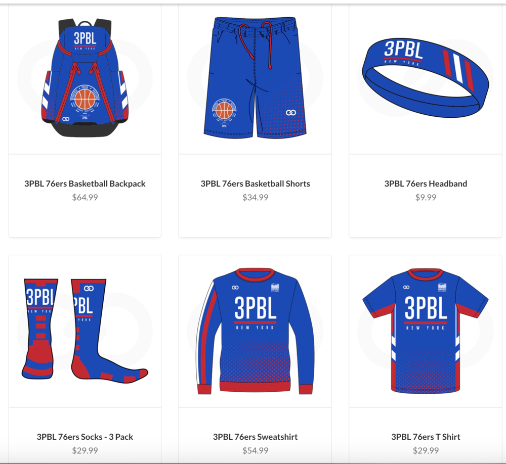 3PBL Example Fan Shop / Team Store