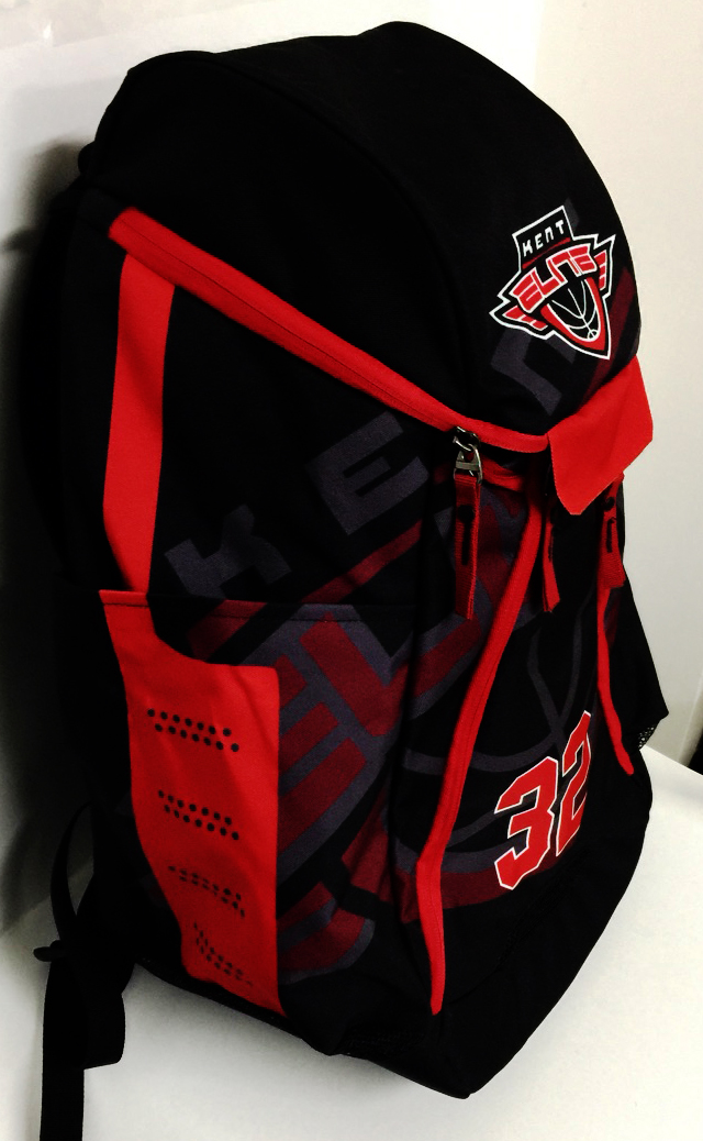 KENT ELITE Red Black and White Basketball Backpack