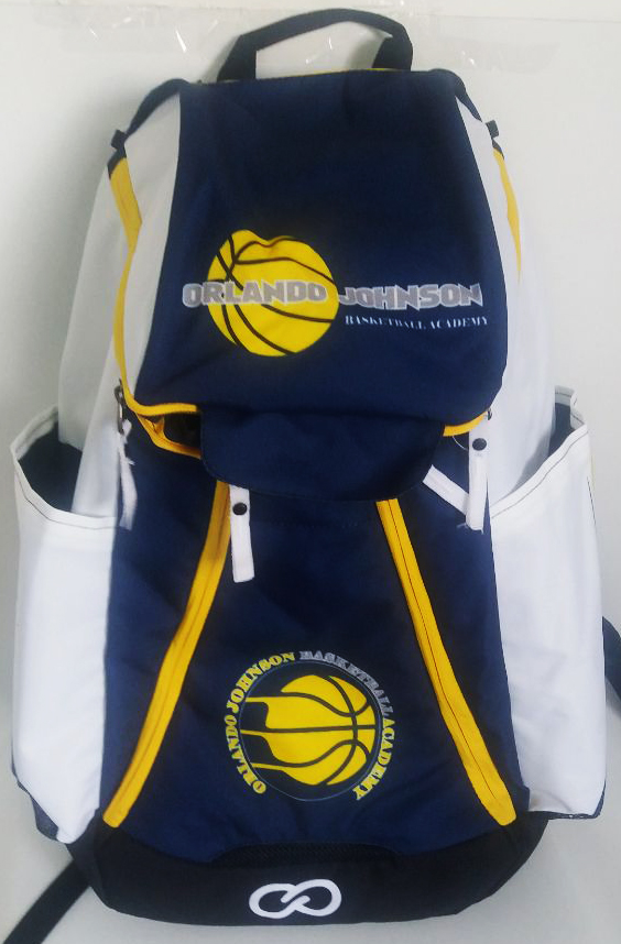 Blue Black Yellow and White Basketball Backpack