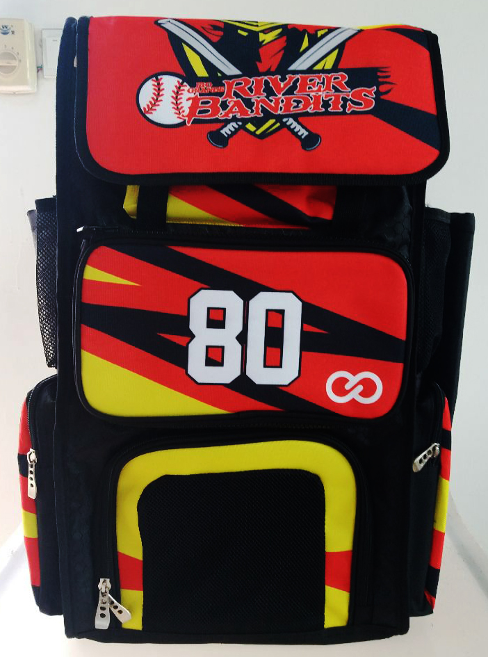 Black Red Yellow and White Baseball Backpack