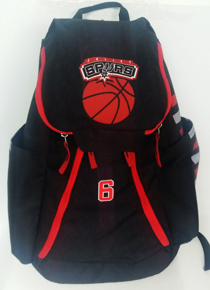 SPURS Black Red and White Basketball Backpack