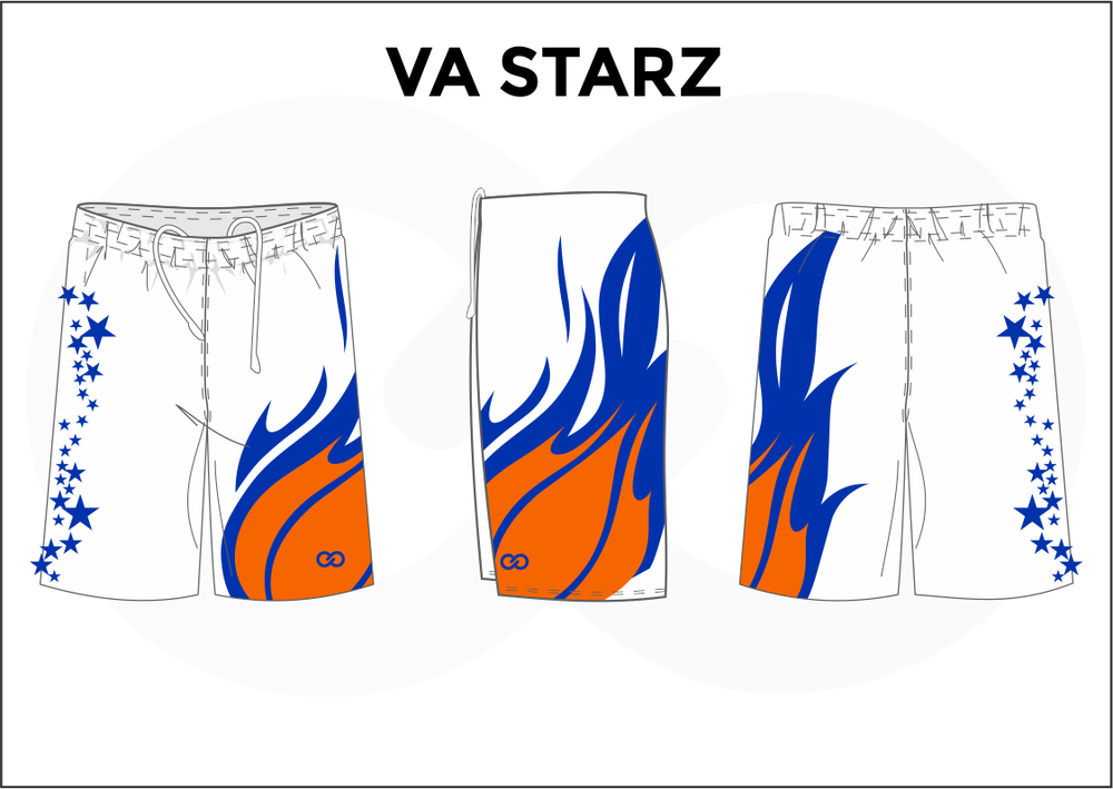VA STARZ White Blue and Orange Women's Basketball Shorts