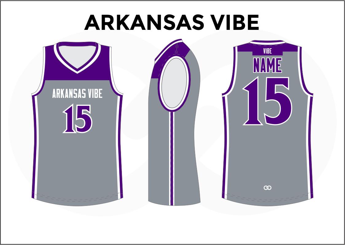 5d5fefc554c ARKANSAS VIBE Violet Gray White Women's Basketball Jerseys. Wooter Apparel  | Team Uniforms ...