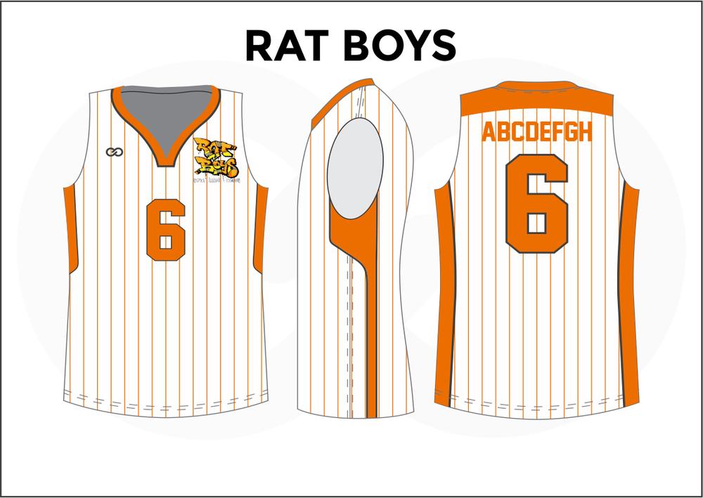 RAT BOYS White Yellow Orange Kids Basketball Jerseys