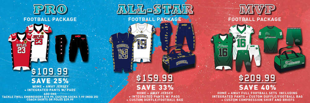 Want to save money? Special packages available when combined with  spirit wear .