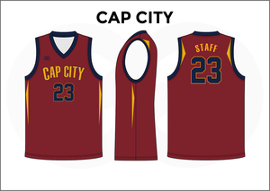 CAP CITY Red Black Blue and Yellow Reversible Basketball Jerseys 9113a8928