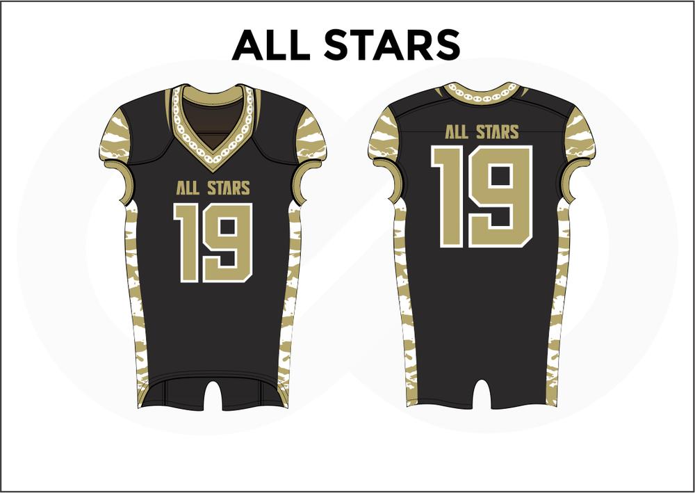 ALL STARS Black Gray Brown and White Men's Football Jerseys