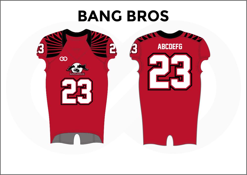 BANG BROS Red Black and White Men's Football Jerseys