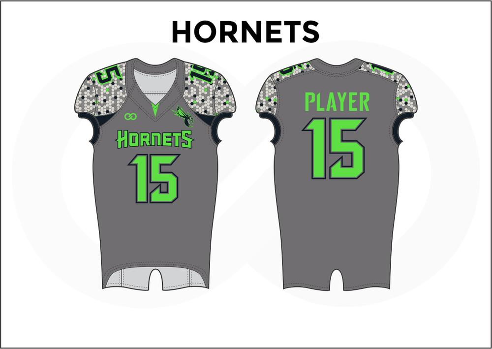 HORNETS Gray White Black and Green Men's Football Jerseys