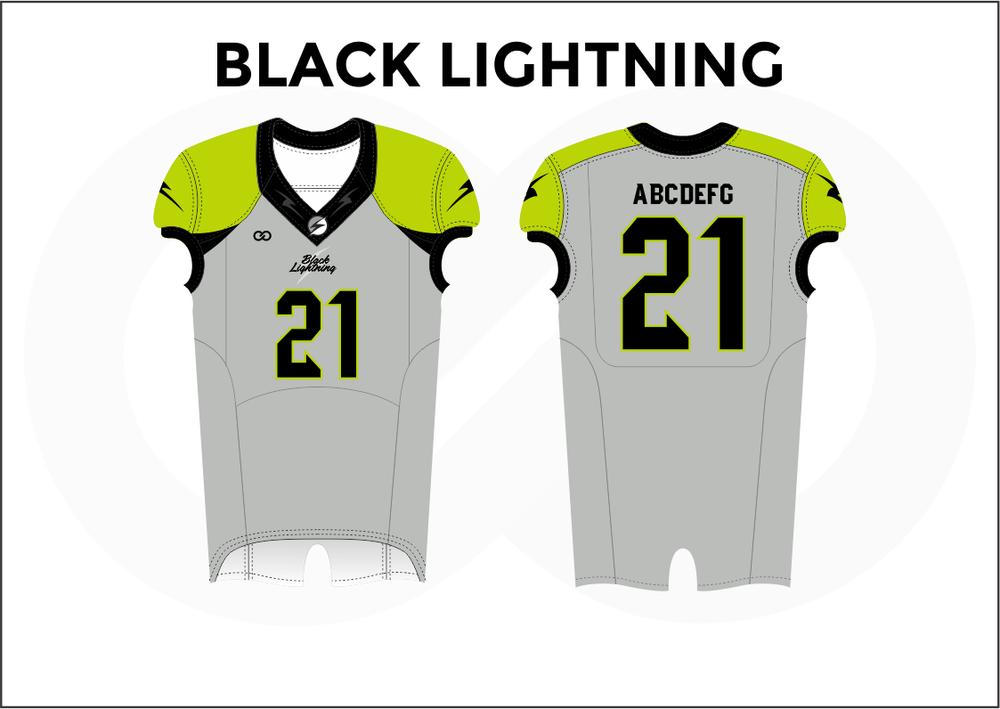 BLACK LIGHTNING Yellow Black Gray White Youth Boy's Football Jerseys