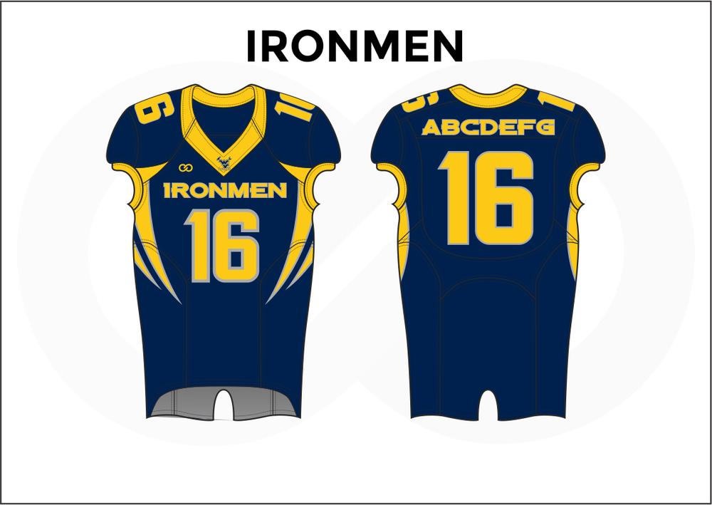 IRONMEN Yellow and Blue Youth Boy's Football Jerseys
