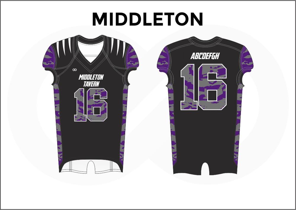 MIDDLETON Black Violet and White Youth Boy's Football Jerseys