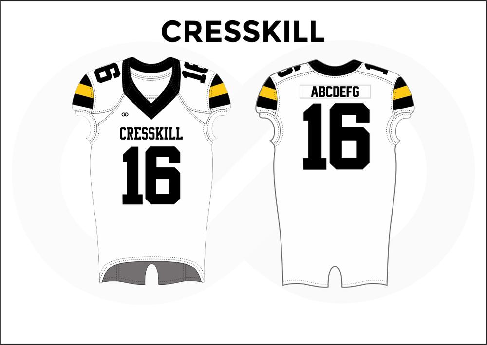 CRESSKILL Black White and Yellow Women's Football Jerseys