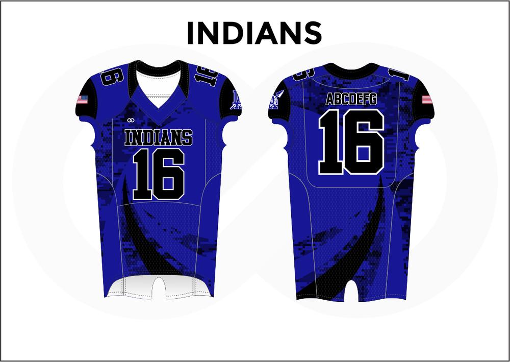 INDIANS Black Blue Women's Football Jerseys