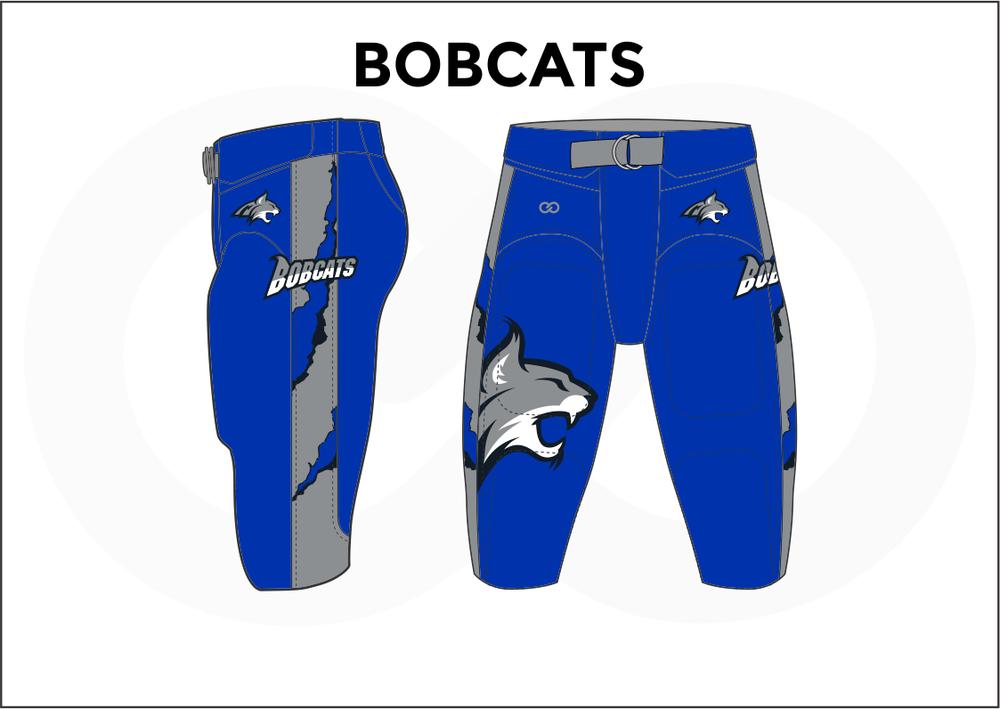BOBCATS Blue Gray White Men's Football Pants