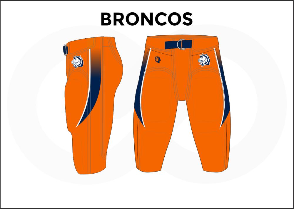 BRONCOS Blue White and Orange Men's Football Pants