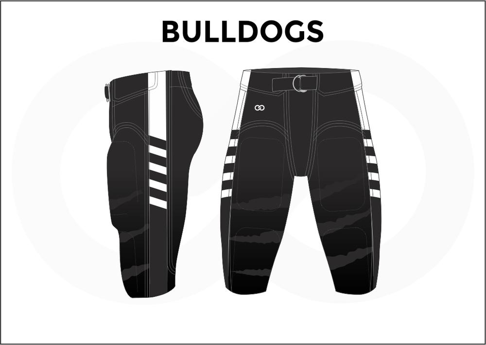 BULLDOGS White and Black Men's Football Jerseys