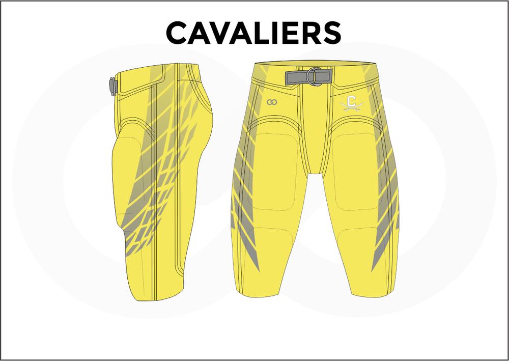 CAVALIERS Gray White Yellow Men's Football Pants