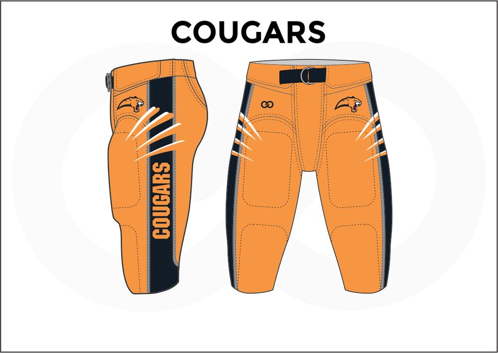COUGARS Blue Black White Orange Men's Football Pants