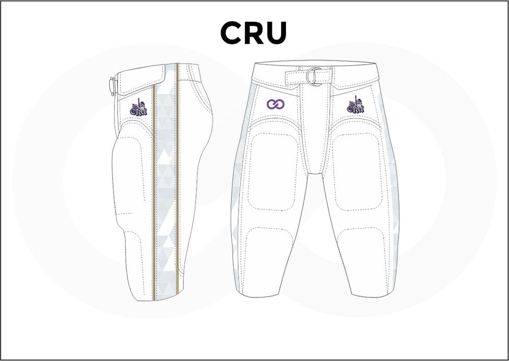 CRU Blue and White Men's Football Pants