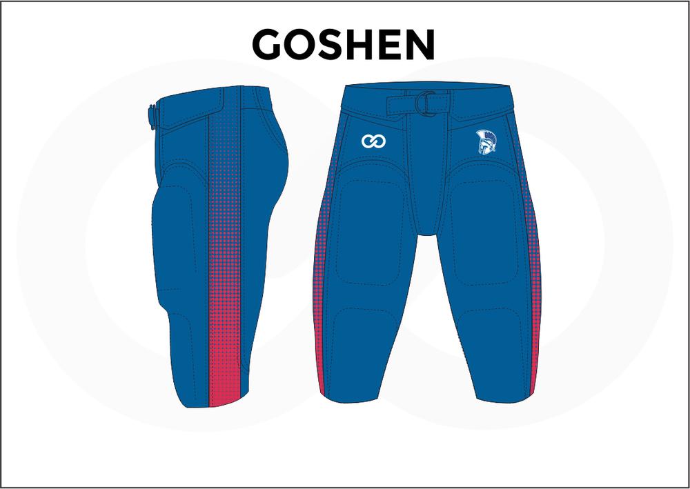 GOSHEN Blue Red and White Men's Football Jerseys