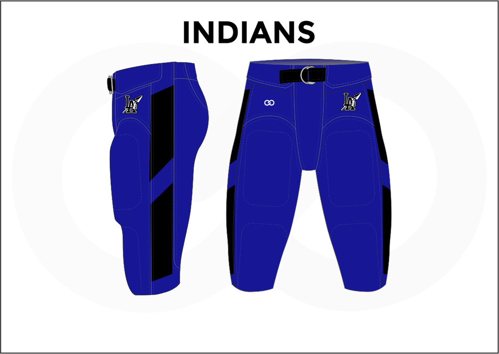 INDIANS Black Blue and White Men's Football Jerseys