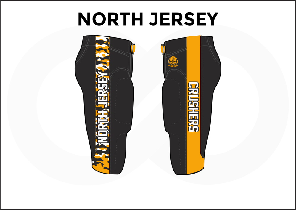 NORTH JERSEY Black White and Yellow Men's Football Pants