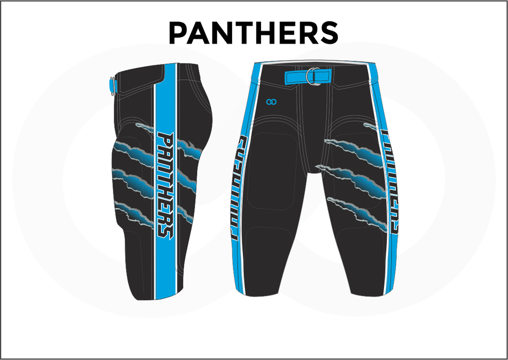 PANTHERS Black and Blue Men's Football Pants