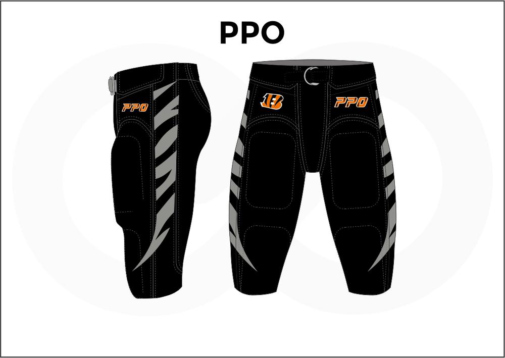 PPO Gray Orange and Black Men's Football Pants