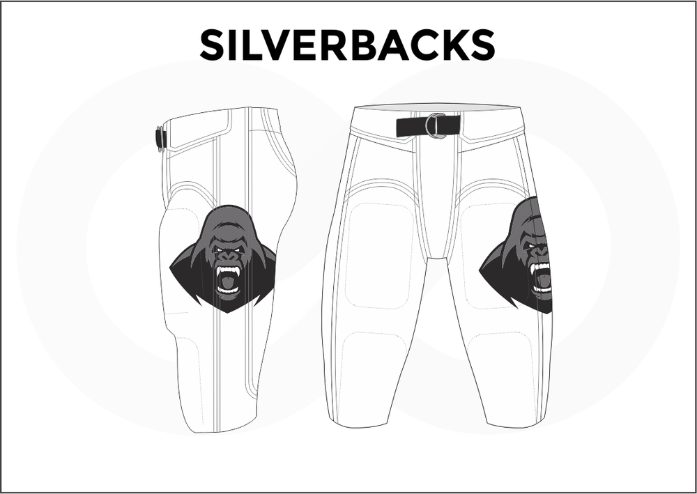 SILVERBACKS Black and White Men's Football Pants