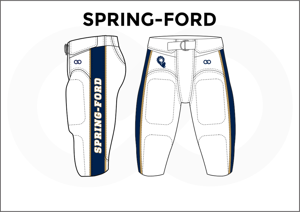SPRING - FORD Blue Yellow and White Men's Football Pants