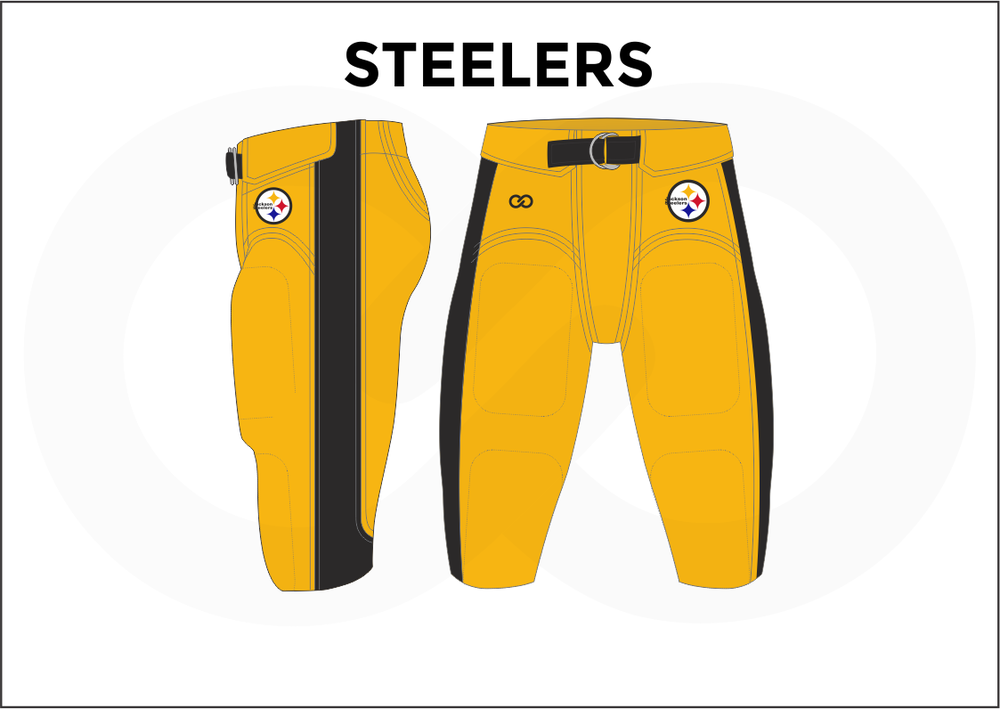 STEELERS Black White and Yellow Men's Football Pants