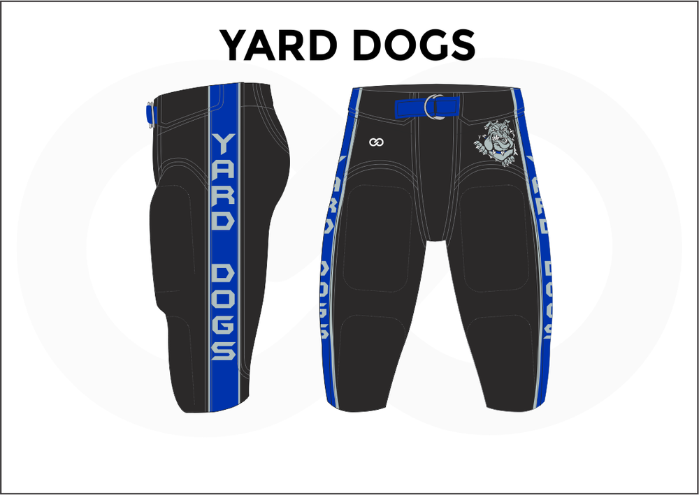 YARD DOGS White Blue and Black Men's Football Pants