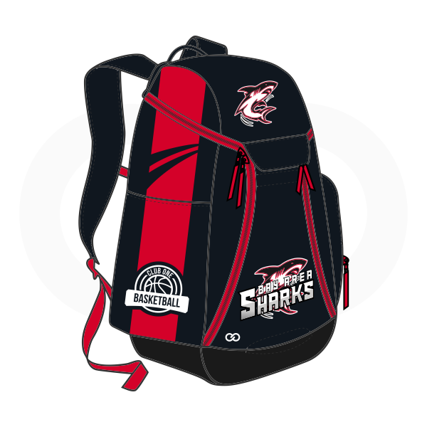 SHARKS White Red and Black Basketball Backpacks Nike Elite