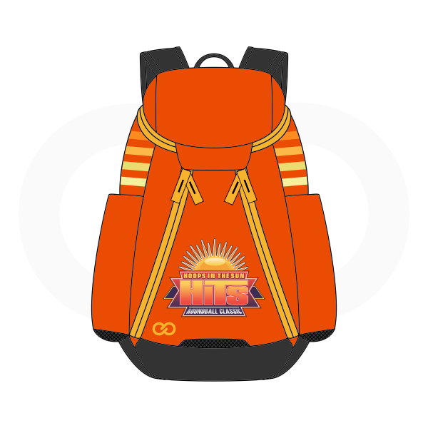 HITS Orange White Red Yellow Blue and Black Basketball Backpacks Nike Elite