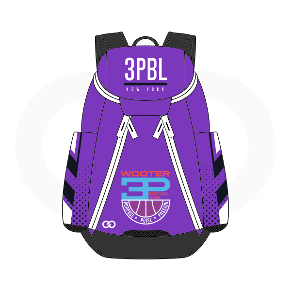 3PBL Violet White Red Blue and Black Basketball Backpacks Nike Elite