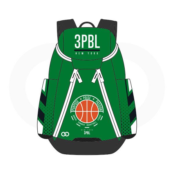 3PBL Green White Black and Red Basketball Backpacks Nike Elite
