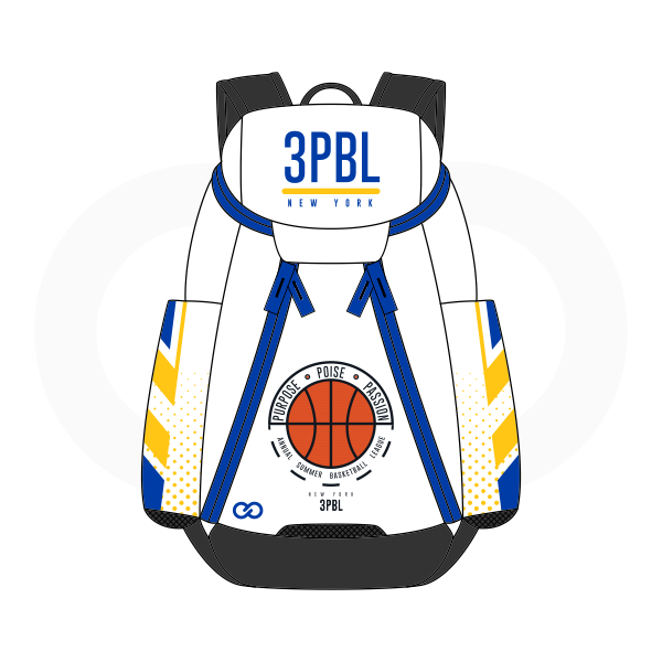 3PBL White Blue Yellow Orange and Black Basketball Backpacks Nike Elite