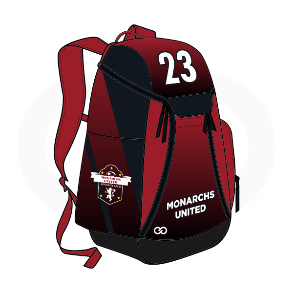 MONARCHS UNITED Maroon White and Black Basketball Backpacks Nike Elite